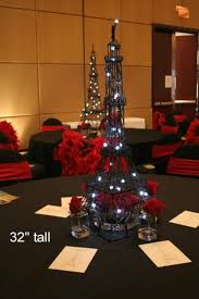 eiffel tower centerpieces check out the chairs they are awesome not the eiffel