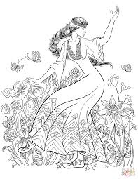 slavic dance coloring page free printable coloring pages