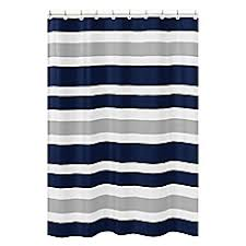 Navy And Coral Shower Curtain Shower Curtains Bed Bath Beyond