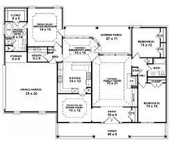 4 bedroom single story house plans pleasant design one floor house plans 3 bedrooms 14 single story