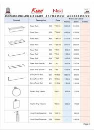 Bathroom Fittings In Kerala With Prices Remarkable List Of Bathroom Accessories Throughout Bathroom