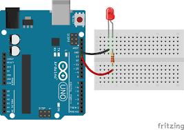 Led Blinking Circuit Diagram Javascript Robotics Led Blink With Johnny Five