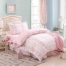 girls pink flower heart bed duvet cover sheet pillowcase 100