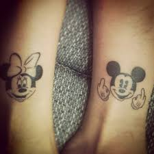 couple tattoo mickey mouse 20 matching tattoo ideas for sisters to create a lasting bond