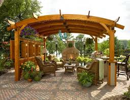 Patio Barbecue Designs Impressive Wood Working Patio Barbecue Designs Using Curved Roof