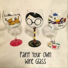 cartoon wine glass paint your own wine glass