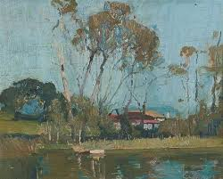 sydney long narrabeen lakes sketch of trees on