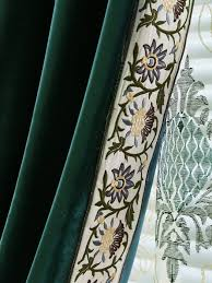 Turquoise Velvet Curtains New Arrival Denali Green And Blue Waterfall And Swag Valance And