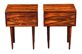modern night table tall mid century modern night stands in rosewood by arne vodder