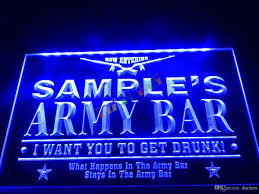 Man Cave Led Lighting by Dz060 B Name Personalized Custom Army Man Cave Bar Beer Neon Sign