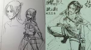 gender swapped sketches of eren yeager result in new character