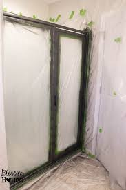 how not to paint a shower door and how to fix spray paint