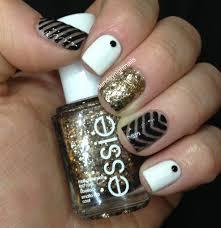 angel la vie white gold nail art