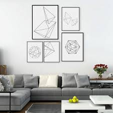 geometric home decor modern home decor nordic minimalist geometric shape poster abstract