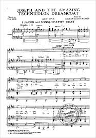 joseph and the amazing technicolor dreamcoat full vocal score from