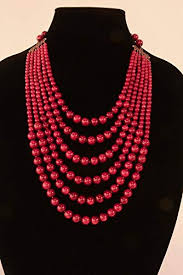 coral bead necklace images Success beads a six strand dark red coral bead jpg