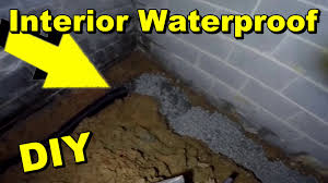Interior Waterproofing Interior Waterproofing With French Drain Discharge Youtube