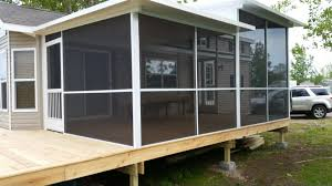 homes with porches screen porch for mobile home archives screen pro screen enclosures
