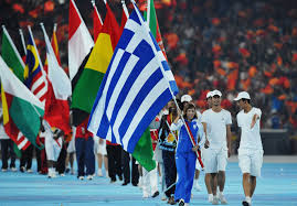 Olimpics Flag Flag Bearers And Olympic Delegations Parade