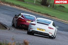 jaguar f type vs porsche 911 porsche 911 s vs jaguar f type r motor
