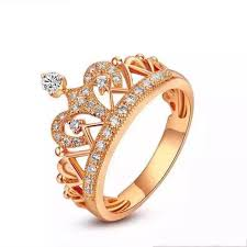 yellow gold diamond rings imperial crown micro paved solid au585 yellow gold quality
