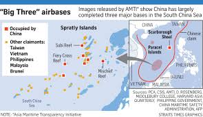 Spratly Islands Map Beijing U0027s Airbases In South China Sea U0027ready For Use U0027 East Asia