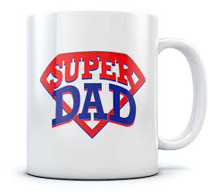 cool coffee mug super dad coffee mug perfect fathers day gift sturdy ceramic tea