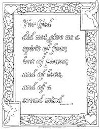 coloring pages for kids by mr adron 2 timothy 1 7 coloring page
