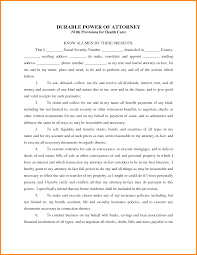 Medical Power Of Attorney Texas Form by 5 Durable Power Of Attorney Healthcare Form Attorney Letterheads