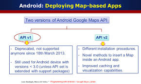 android api versions programming with android the maps library slides taken
