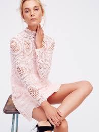 ibiza lace dress crochet lace mini dress featuring a mock neck