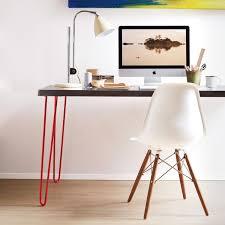 hair pin legs hairpin leg and stainless top desk martha stewart