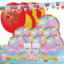 peppa pig party supplies peppa pig theme 8 person delux party pack partyrama