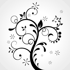 vector for free use floral ornament on grey