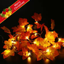 maple leaf garland with lights christmas decoration light string maple leaf garland string lights