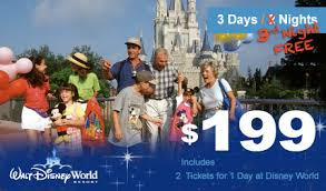 walt disney world orlando vacation package with 3rd free at