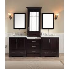 Espresso Vanity Table Ariel Stafford 85 Inch Double Sink Espresso Vanity Set With Center