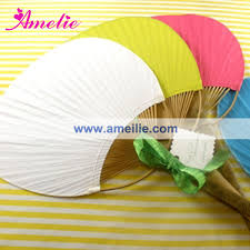 custom paper fans wedding custom bamboo paddle paper fan buy bamboo paddle