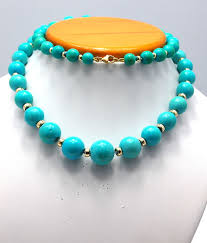 natural turquoise necklace images Natural persian antique turqiouse turquoise and gold necklace jpg