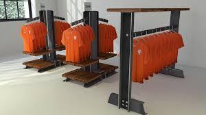 vintage industrial retail garment rack u2013 model cpt57 u2013 vintage