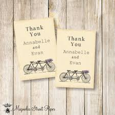 tandem bicycle favor tags printable bicycle favor tags wedding