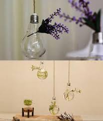 8 14cm clear flower pots planters home decor glass vases hanging