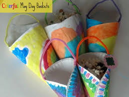 spring craft colorful may day baskets from mom it forward kids