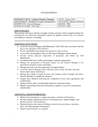 Packer Job Description Resume by Resume For Assistant Manager Resume For Your Job Application