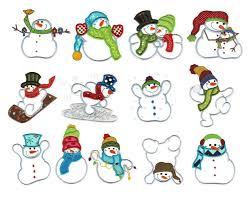 snowmen applique machine embroidery designs designs by juju