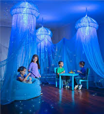 Bed Canopy With Lights Aquaglow Jellyfish Hideaway Play Spaces Hearthsong