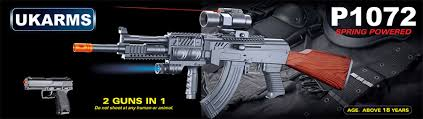 ak 47 laser light combo ukarms p1072 tactical ak47 spring rifle w laser and flashlight plus