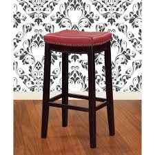 Linon Home Decor Bar Stools by Linon Home Decor Claridge 30 In Dark Brown Cushioned Bar Stool