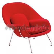 saarinen womb chair u0026 ottoman replica premium cashmere red