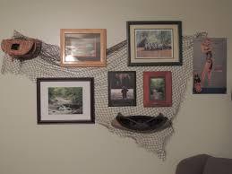 fly fishing theme wall decor using fishing net from joe u0027s army